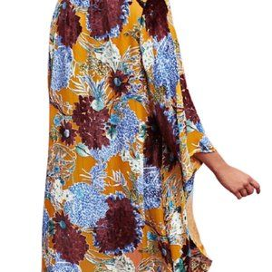 NWT Anthro Floreat Aurelia Burnout Velvet Kimono